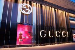 古驰时尚商店在中国 库存照片