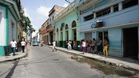 古巴。 Matanzas。 街道运输。 库存图片