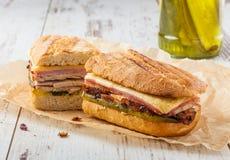 古巴三明治 库存图片