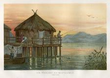 古代人堆家瑞士1890 图库摄影