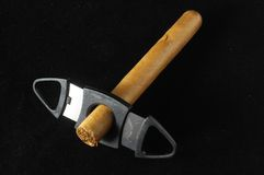 古巴人布朗Havan雪茄 免版税库存图片