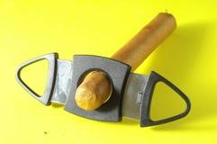 古巴人布朗Havan雪茄 免版税库存照片
