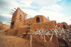古代人的村庄在沙漠 库存照片