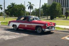 古巴人1955年Desoto汽车 免版税库存图片