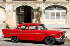 古巴经典之作汽车 免版税图库摄影