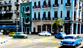 古巴经典汽车在哈瓦那古巴 免版税库存图片