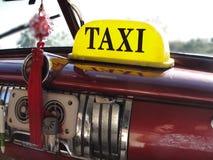 古巴出租汽车仪表板 免版税库存照片