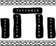 古代北欧文字的石头 免版税库存图片