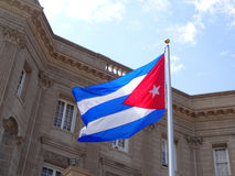 古巴和旗子使馆  库存图片