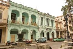 古巴哈瓦那旧城大厦 库存照片