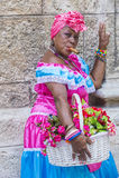 古巴妇女的画象 免版税库存照片