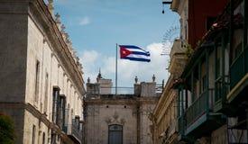 古巴旗子哈瓦那 免版税库存照片