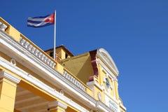 古巴旗子在特立尼达 免版税库存图片