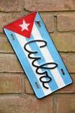 古巴旗子标志 库存照片