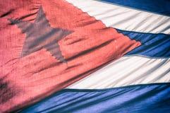 古巴旗子阳光 库存图片