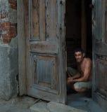 古巴杂物工 库存图片