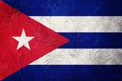 古巴标志grunge 与难看的东西纹理的古巴旗子 免版税图库摄影