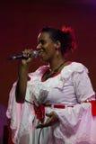 古巴歌手 免版税库存照片