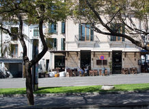 古巴殖民地酒吧外部 库存照片