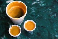 古巴浓咖啡或Colada 库存照片