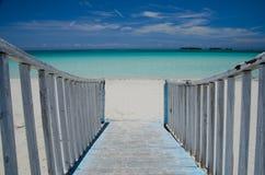 古巴海滩 免版税库存图片