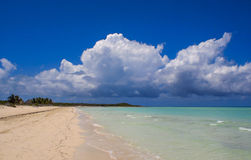 古巴海滩 免版税库存照片
