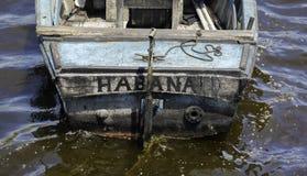 古巴渔船 库存图片