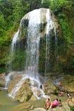 古巴瀑布 库存照片