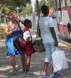 古巴的人们 图库摄影