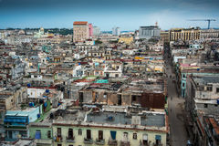 古巴的哈瓦那国会大厦城市scape  免版税库存照片