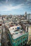 古巴的哈瓦那国会大厦城市scape  免版税库存图片