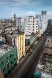 古巴的哈瓦那国会大厦城市scape  库存照片