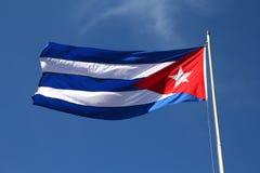 古巴的旗子 免版税库存图片
