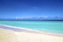 从古巴的海滩 库存照片