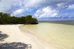 从古巴的海滩 免版税库存图片