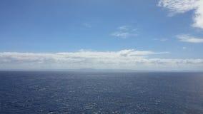 古巴的看法从海洋的 免版税库存照片
