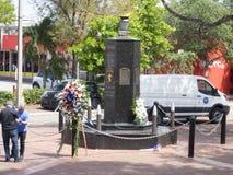古巴纪念广场-猪纪念碑,迈阿密佛罗里达海湾  库存照片