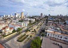 古巴 老哈瓦那 顶视图 总统内容说明书  免版税图库摄影