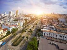 古巴 老哈瓦那 顶视图 总统内容说明书  免版税库存图片