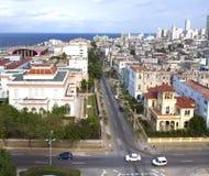 古巴 老哈瓦那 顶视图 免版税库存照片