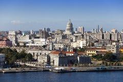 古巴 老哈瓦那 顶视图 图库摄影