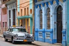 古巴老汽车 免版税库存图片