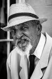 古巴更老的绅士的画象 库存照片