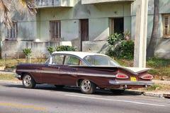 古巴葡萄酒汽车 免版税库存照片