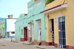 古巴街道特立尼达 免版税库存图片