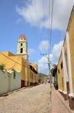 古巴街道特立尼达 库存照片