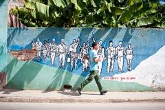 古巴街道艺术 免版税库存图片
