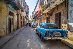 古巴街道 免版税库存照片