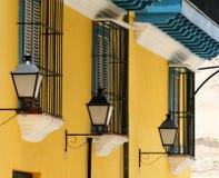 古巴闪亮指示街道 免版税库存图片
