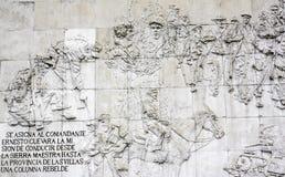 古巴革命的浅浮雕 图库摄影